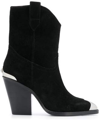 Ash metal toe suede boots