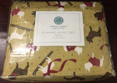 Martha Stewart Collection Dogs Puppy Love Winter Twin Flannel Sheet Set