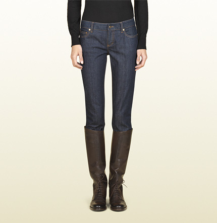 Gucci Web Detail Five Pocket Skinny Jean