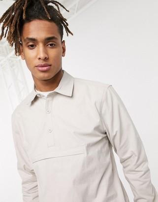 Parlez Laurent long sleeved shirt in cream
