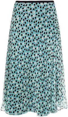 Diane von Furstenberg Molly Printed Silk-crepon Midi Skirt
