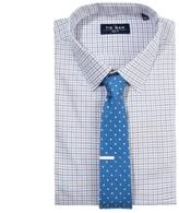The Tie Bar Blue Twill Tattersall Non-Iron Shirt