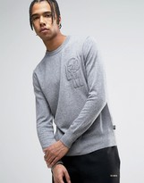 Love Moschino Embroidered Chest Logo Jumper