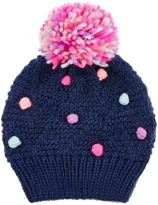Accessorize Girls Pom Pom Beanie Hat - Multi