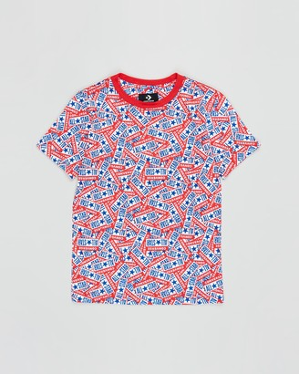 Converse All Star Licence Plate Allover Print Tee - Teens