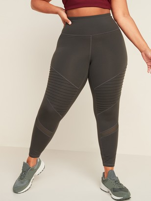 Old Navy High-Waisted Elevate Moto Plus-Size 7/8-Length Leggings