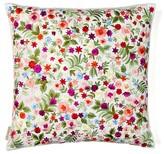 Flowers Silk Throw Pillow Sivaana