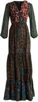 Saloni Ginny patchwork silk crepe de Chine dress