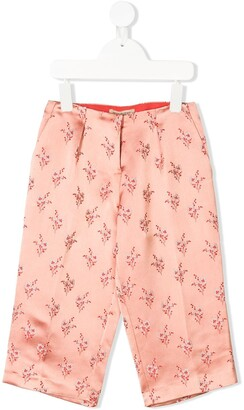 Hucklebones London Cropped Floral Trousers