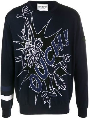 Iceberg Ouch intarsia jumper