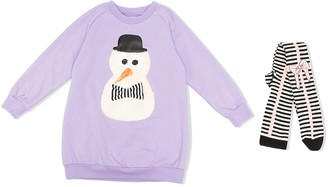 Wauw Capow By Bangbang Snow Friend sweatshirt dress