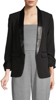 Laundry by Shelli Segal Ruched-Sleeve Blazer