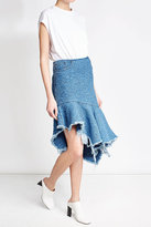 Marques Almeida Marques\' Almeida Embroidered Denim Skirt