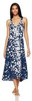 Oscar de la Renta Women's Floral Vines Long Gown