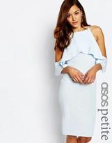 Asos High Neck Cold Shoulder Midi Dress