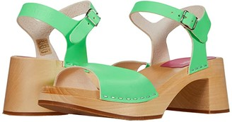 Swedish Hasbeens Basic Sandal (Neon Green) Women's Sandals