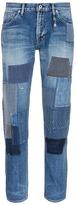 FDMTL 'Trace CS35' slim fit boro patchwork jeans