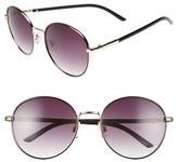 BP Women's 55Mm Round Sunglasses - Black