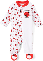 Baby Starters White Ladybug Footie - Infant