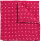 Pink Linen Spot Classic Pocket Square Size Osfa By Charles Tyrwhitt