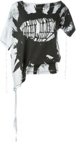 Ann Demeulemeester printed asymmetric T-shirt - women - Cotton - 38