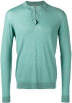 Nuur round split collar sweater - men - Merino - 48