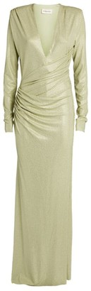 Alexandre Vauthier One-Shoulder Silk Gown