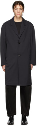 Lemaire Black Wool Chesterfield Coat