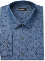 Bar III Men's Slim-Fit Indigo Leaf Print Dress Shirt, Only at Macy's
