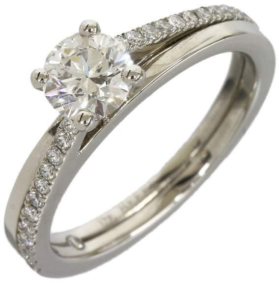 De Beers 950 Platinum Diamond Ring Size 4.5