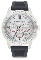 Saks Fifth Avenue Stainless Steel Chronograph Strap Watch