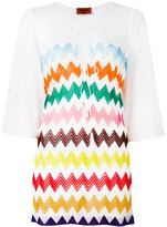 Missoni zig-zag print sheer dress - women - Viscose - 38