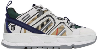 Burberry White and Beige Union Sneakers