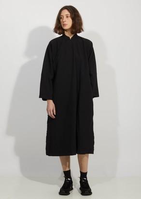 Comme des Garcons Garment Treated Oxford Mandarin Collar Dress