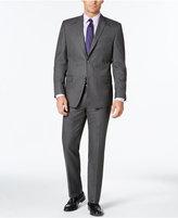 Andrew Marc Men's Classic Fit Gray Pinstripe Suit