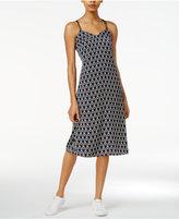 Armani Exchange Printed Crisscross Slip Dress