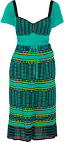 M Missoni Tie-waist knitted cotton-blend dress