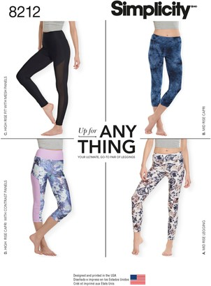 Simplicity Women's Leggings, 8212