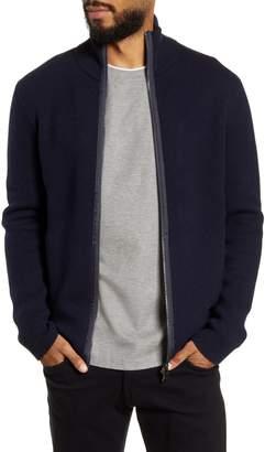 BOSS Badolfo Zip Wool Blend Sweater