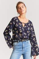 Forever 21 Floral Bell Sleeve Top