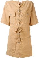 See by Chloe front-tie dress - women - Cotton/Linen/Flax/Spandex/Elastane - 36