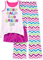 JCPenney Total Girl Keep Calm 3-pc. Sleep Set - Girls 4-16