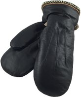 Laurentian Chief Men's Sheepskin Lined Genuine Leather Mittens (XL)