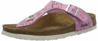 Birkenstock Tongs Gizeh Birko-flor Glitter Hologram Pink Womens Sandal