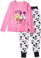 Disney Women's 2-Piece Micropolar Fleece 'Mickey' Print Sleep Set