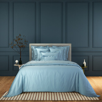 Yves Delorme Triomphe Sateen Organic Cotton Duvet Cover - Horizon - Single
