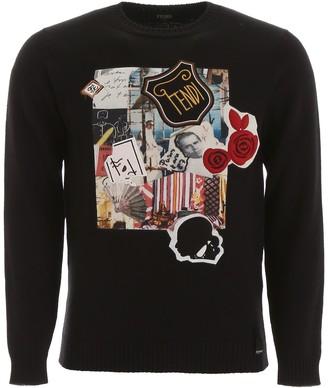 Fendi Karl Kollage Sweater