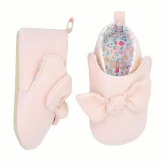 Carter's Baby Girl Pink Bow Chukka Crib Shoes