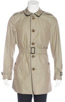 Burberry Lambskin-Trimmed Trench Coat w/ Tags