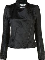 Ann Demeulemeester cropped biker jacket